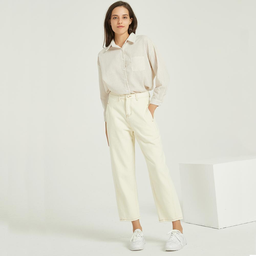 Wixra Loose Women Casual jeans del denim signore Bottoms Femminile pantaloni pantaloni 2020 della molla di autunno pantaloni a vita alta CX200817