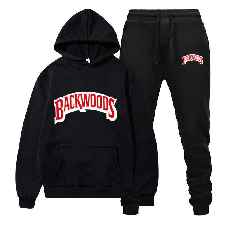 Fashion Brand Backwoods Set da uomo Set da uomo in pile con cappuccio pantaloni spessa calda tuta sportiva sportswear con cappuccio con cappuccio