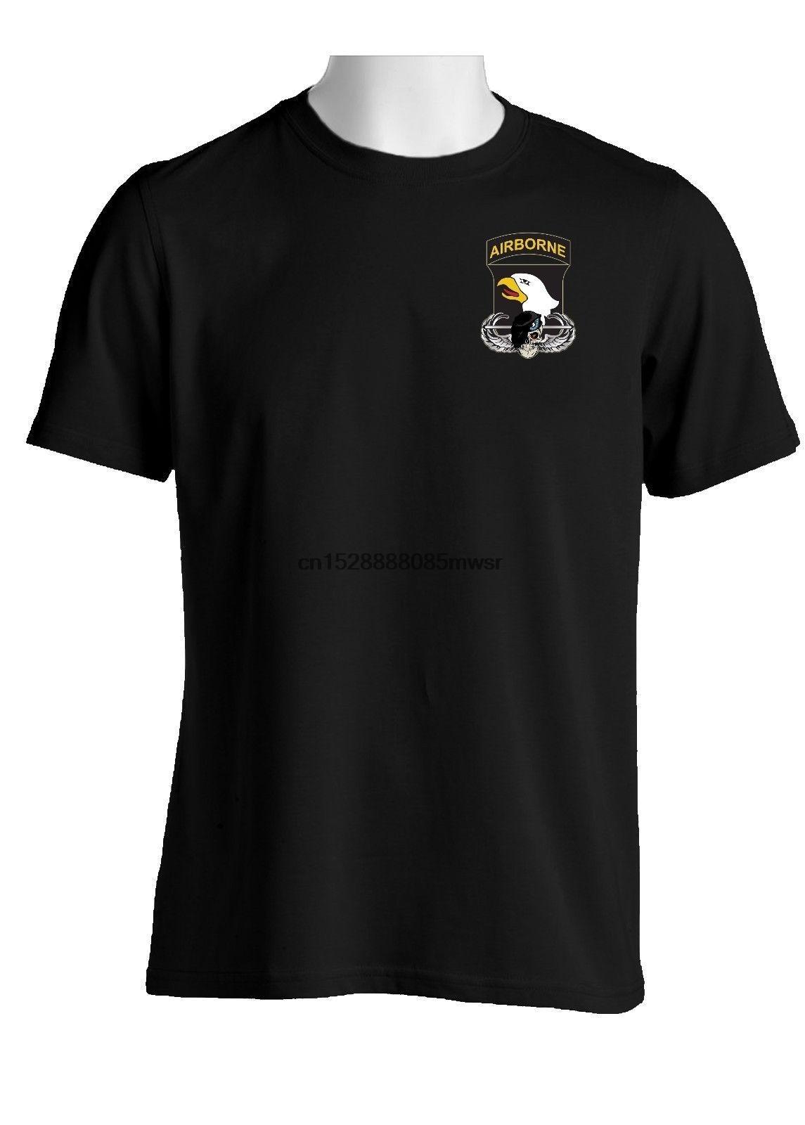 2019 Hot Summer Vente Hommes T-shirt 101e Airborne Division Crâne Beret Chemise en coton-1660