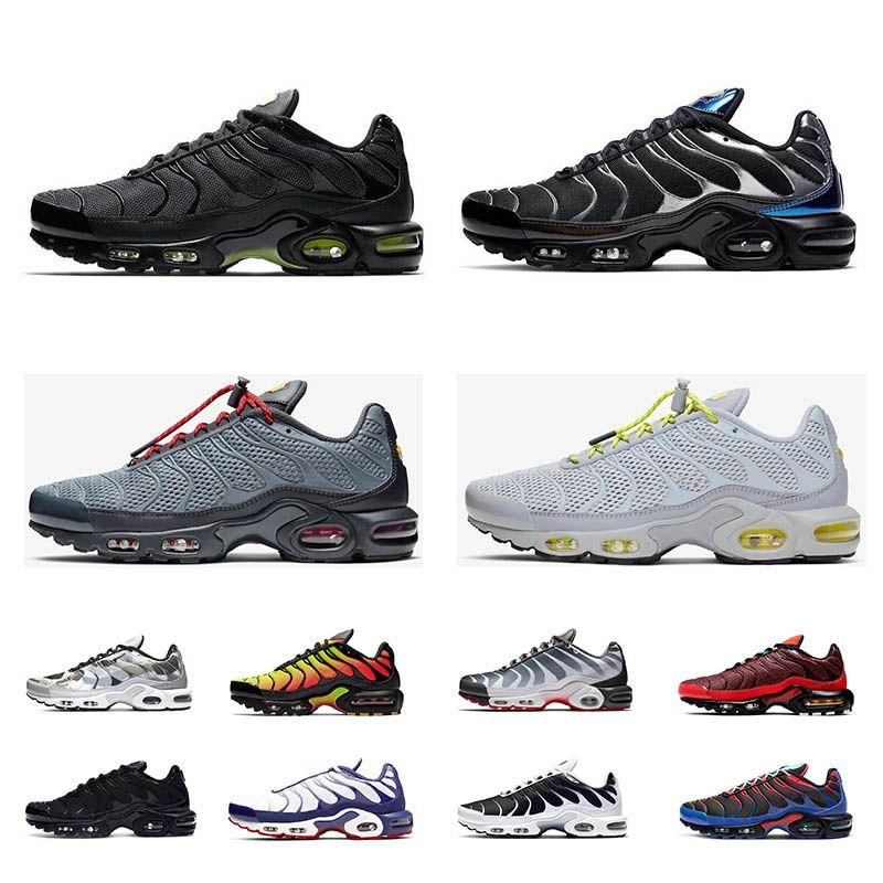 Air max tn plus  chaussures de marque Bumblebee Olympic Plus Chaussures de course Work Blue black volt Grape be true Game Royal Hommes Femmes Sports Sneakers