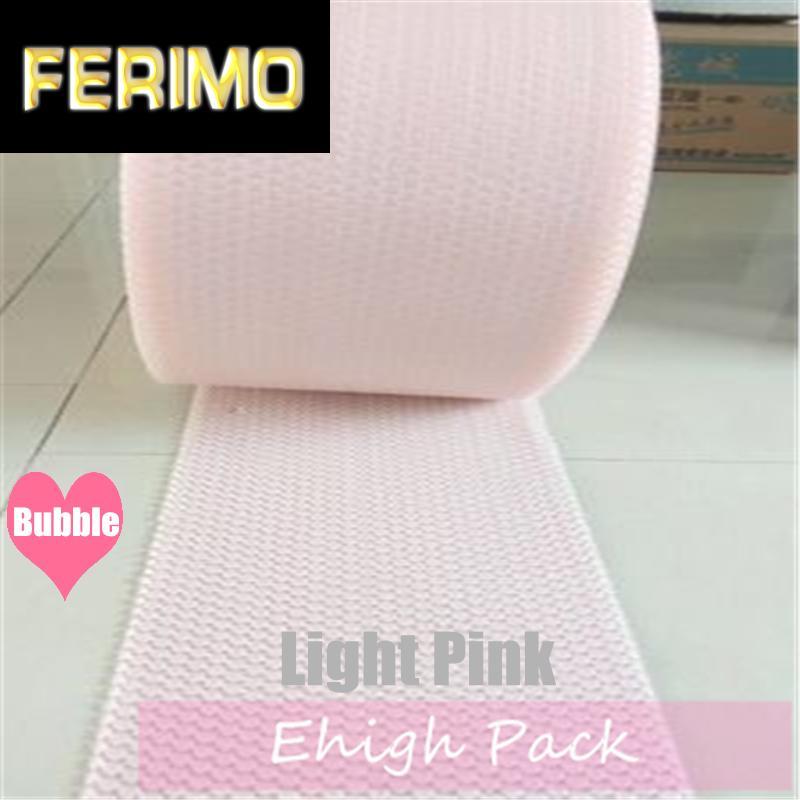 20cmx5m rosa claro del corazón en forma de burbuja de aire Roll Party favores y regalos del rollo de embalaje de espuma decoración de la boda Emballage Bulle Warp
