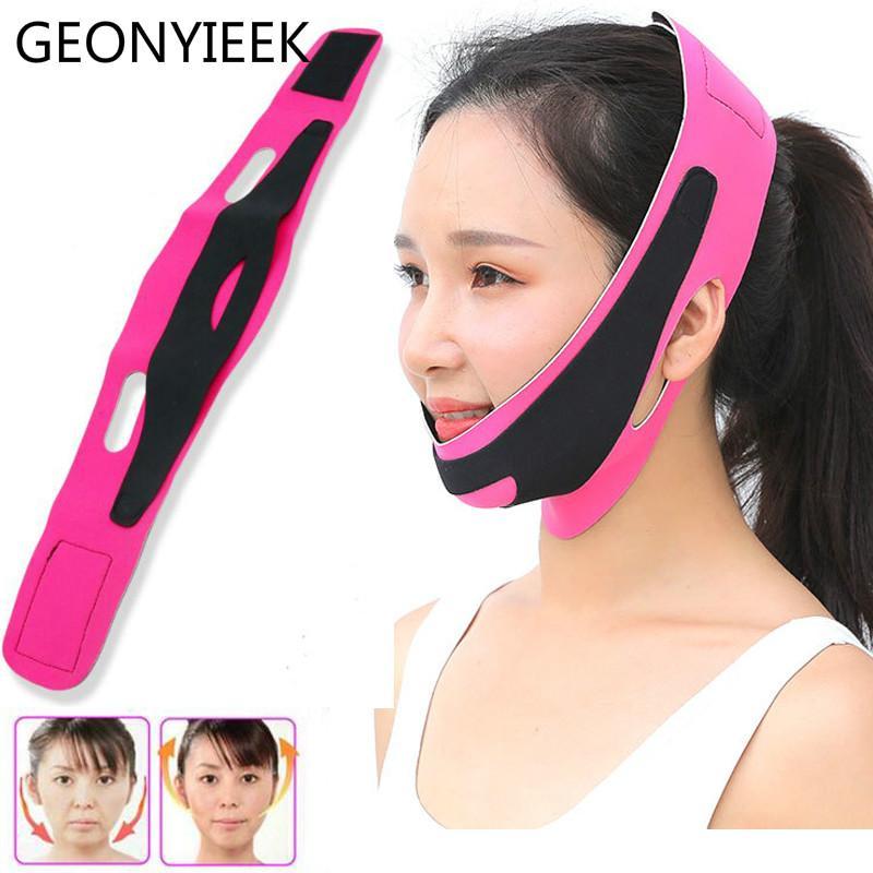 Chin doble cara vendaje delgado Alza anti arrugas máscara de belleza facial herramienta Línea Cara venda de la correa V correa de las mujeres que adelgaza delgada