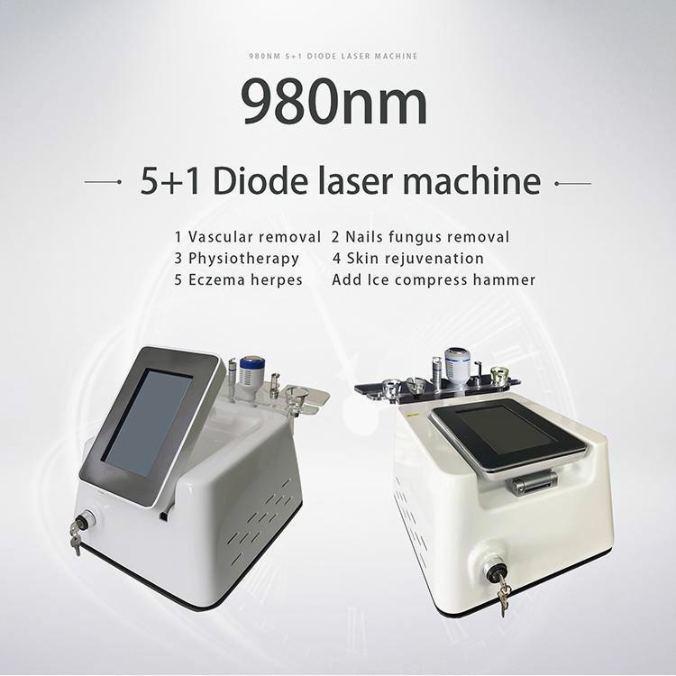 La eliminación populares 980nm diodo láser vascular 5 en 1 Vascular Médico Láser Vascular eliminación de arañas Viens removel Máquina uso del salón