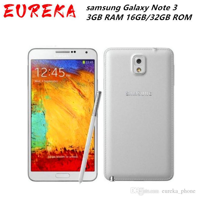 Samsung Original Samsung Galaxy Nota 3 N9005 4G LTE 3GB RAM 32GB / 16 GB ROM Android Phone Trasporto libero