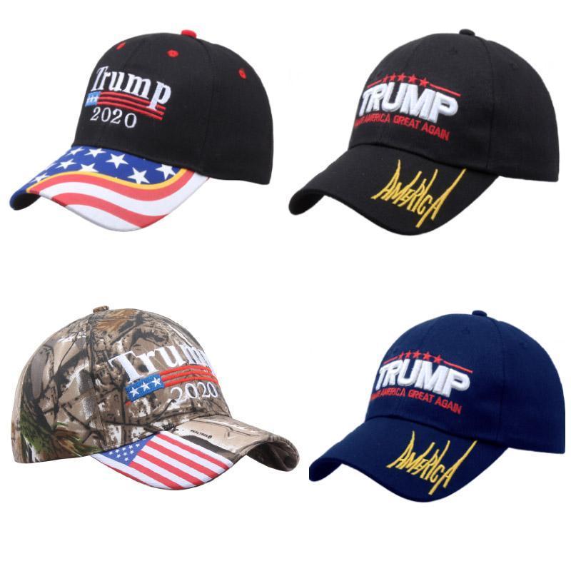 Donald Trump Sombreros 2020 Mantener partido de la bandera de América Gran camuflaje EE.UU. Presidencial sombrero bordado de la gorra de béisbol 3D EWA746