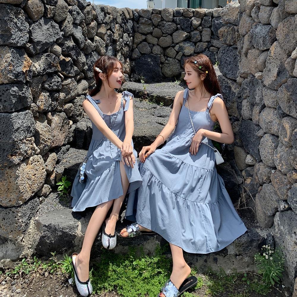 2020 Sommer neuer Mori Art loser Schlankheits süßes Kleid Straps Straps Rock Schlinge Schlinge Rockfrauen elegantes Puppenkleid