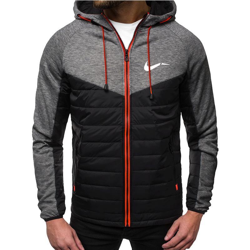 2020 Yeni Sonbahar Erkekler Ceketler Moda Hoody Ceket S Baskılı Rahat Kapüşonlu Ceket Zip Hırka Artı Polar S-2XL