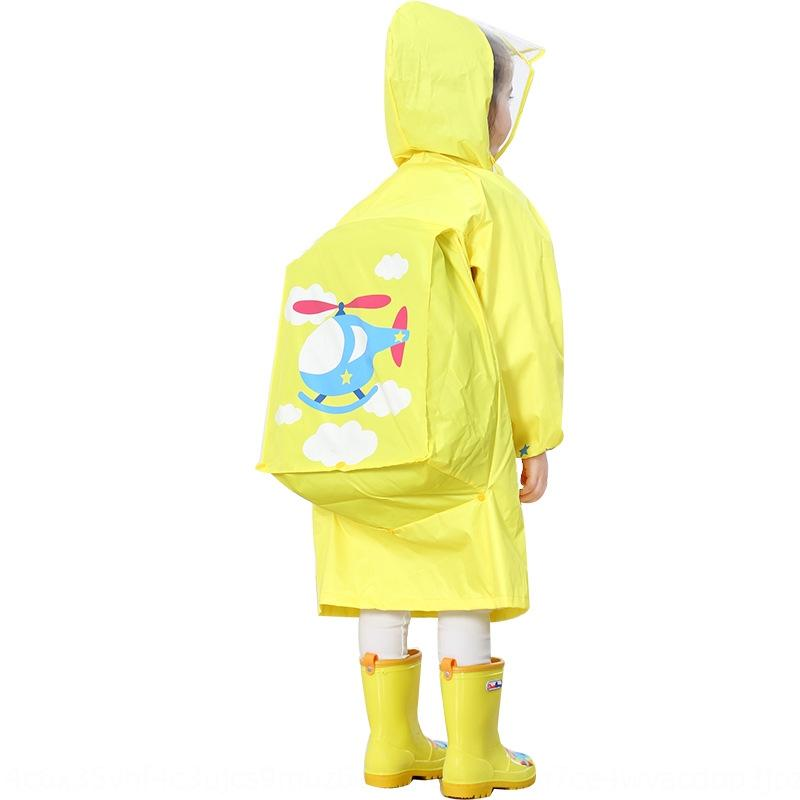 sERz1 Boys Cloak Girls poncho student baby with schoolbag fashionable cartoon big and brim children raincoat Bag hat cloak