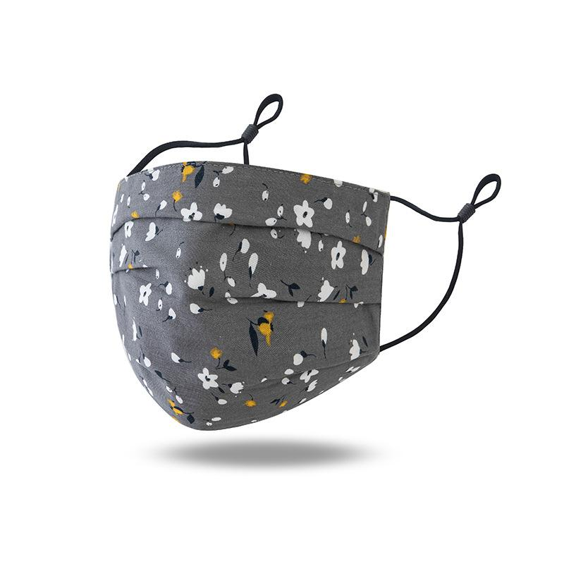 Macio e confortável máscara designer de cara para a proteção do sol e padrão de proteção contra pó de algodão Dustproof máscaras 5 cores DHE297