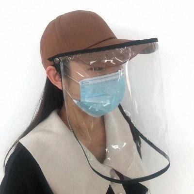 Boné de beisebol removível de protecção Cap Anti-bacteriana Isolamento Aeolian Areia Poeira Hat Anti-epidemia respingo Spit Baseball Cap EEA1308-5 pC5r #
