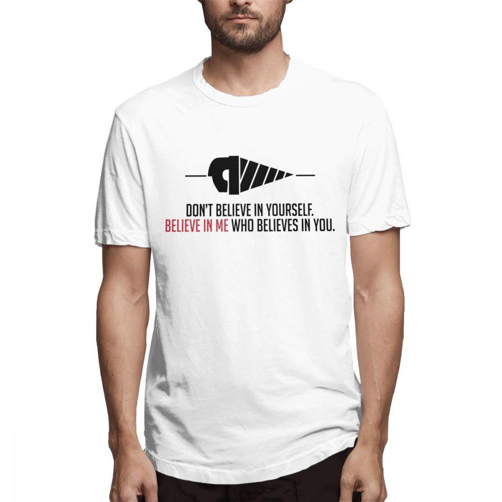 100% Baumwolle Cartoon Drill In Gurren Lagann Believe In Me Wer in der Auffassung, Sie T-Shirt Neuheit-Entwurfs-T-Shirt S-6XL Größe
