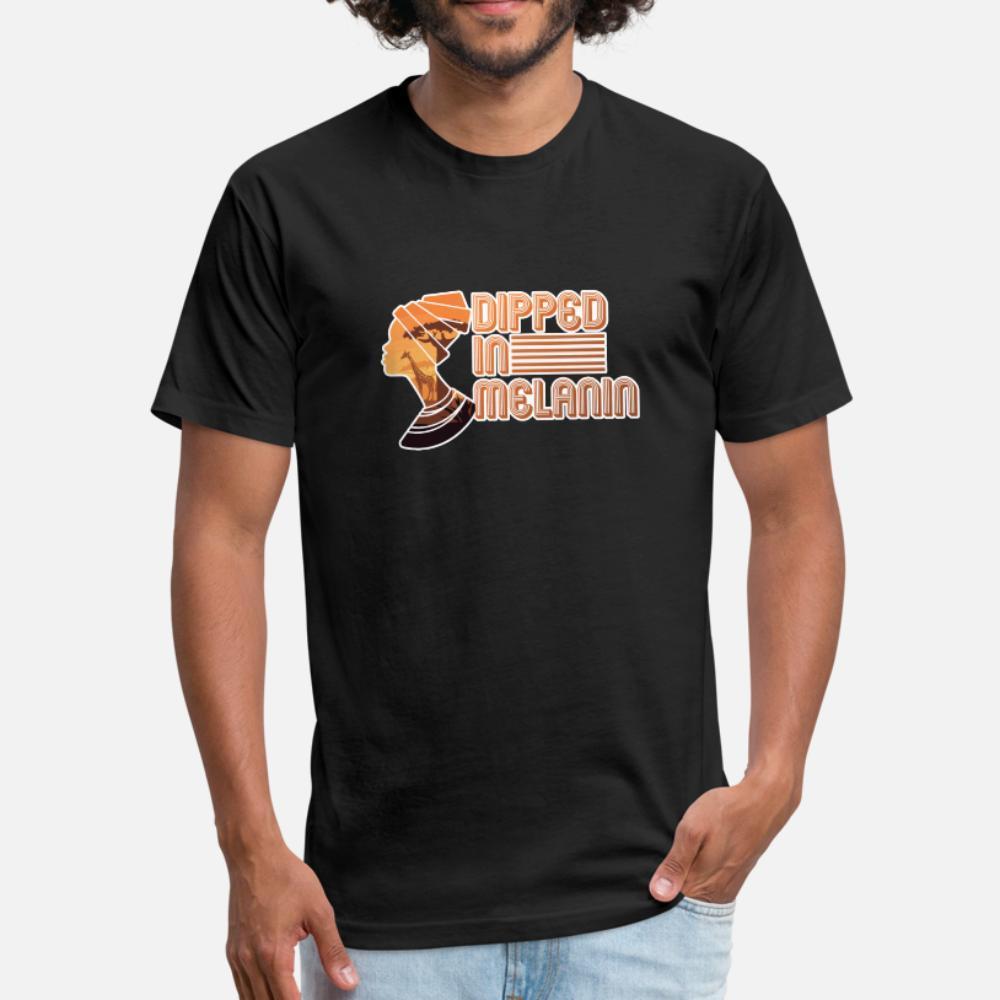 Sumergido en melanina camisa de hombres de la camiseta personalizada 100% algodón O-Cuello de camisa masculina del patrón de otoño del resorte ocasional del famoso cómico