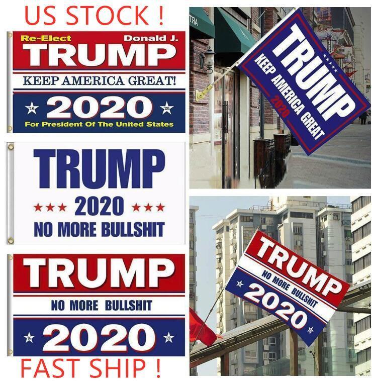 أعلام DHL شحن! ترامب 2020 انتخابات 90 * 150CM البوليستر المطبوعة ترامب العلم إبقاء أمريكا العظمى دونالد للرئيس حملة راية FY6061