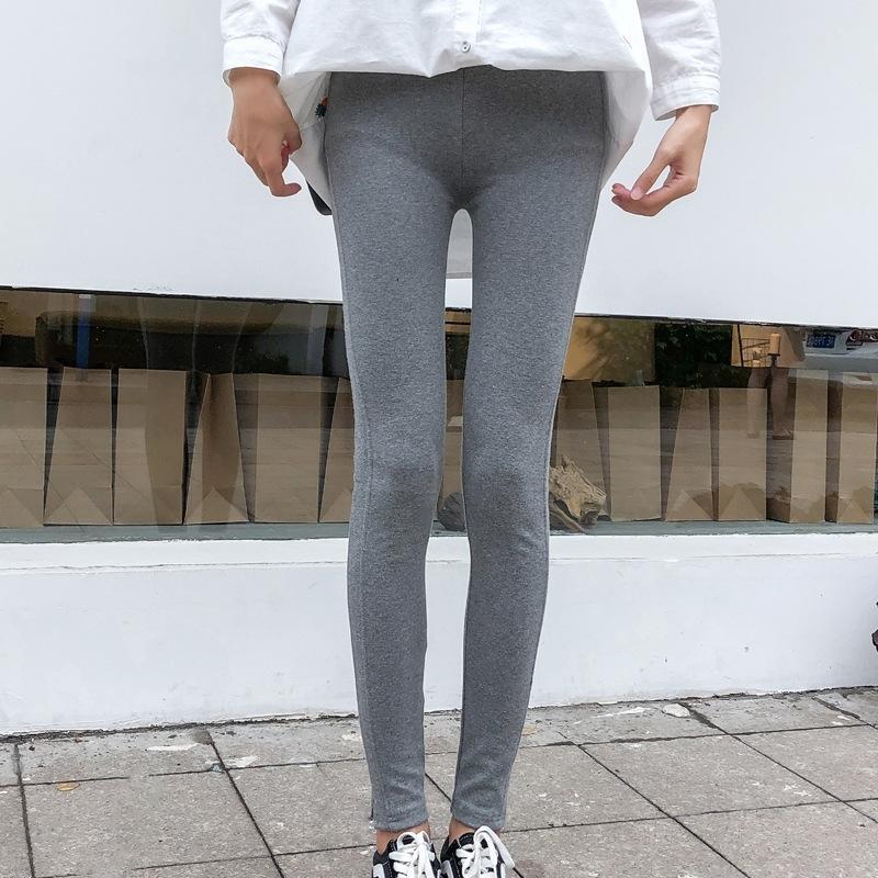 Tpkxn Весна плотно высокой талии тощие брюки Новые брюки стрейч плотный женщин похудение леггинсы для верхней одежды лосины