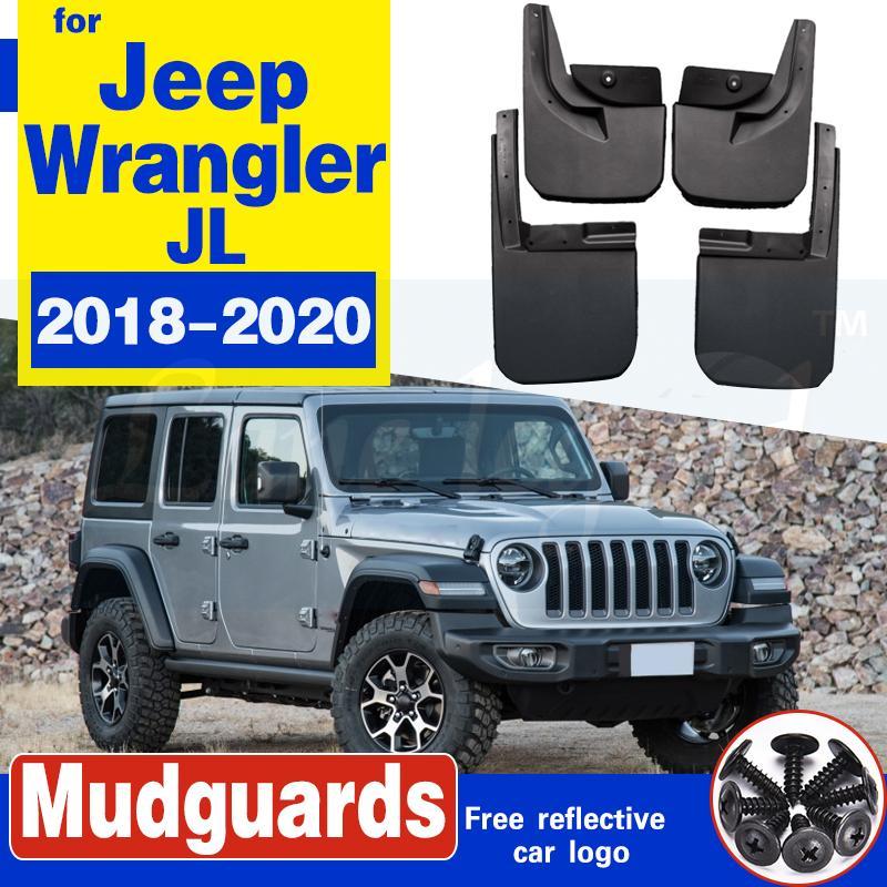 Auto-Kotflügel für Jeep Wrangler JL 2018-2020 Car Fender Schmutzfänger vorn hinten Spritzschutz Schmutzfänger Weicher Kunststoff-Zubehör