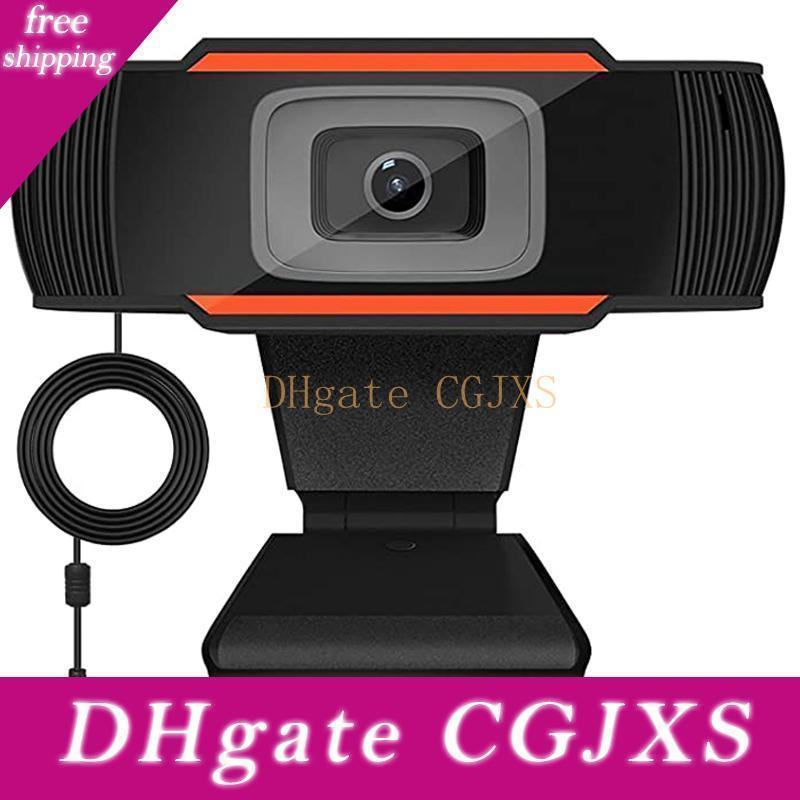 Usb del ordenador portátil de la cámara web del ordenador con el micrófono de 1080p 2 0.0 HD Webcam de la cámara 30 grados giratoria de grabación de vídeo para PC Webcams Skype
