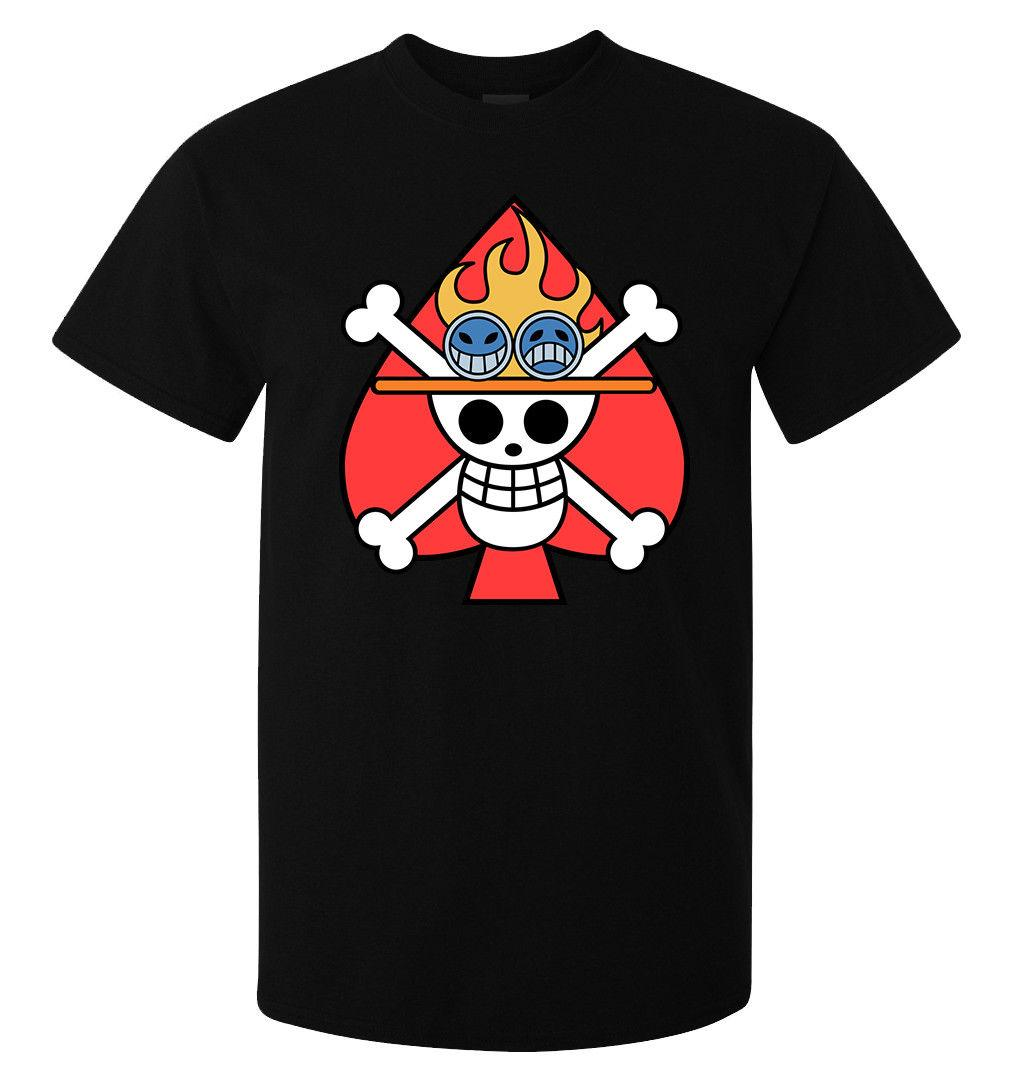 ONE PIECE Ace Drapeau Anime Manga Artwork mes (womas disponible) t-shirt drôles t de chemises 2020