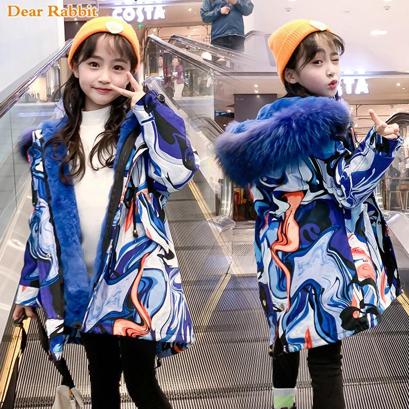2020 Mode hiver velours parka enfants fausse fourrure manteau bébé col à capuche vestes enfant épaississent vêtements hauts fille vêtements Y200901
