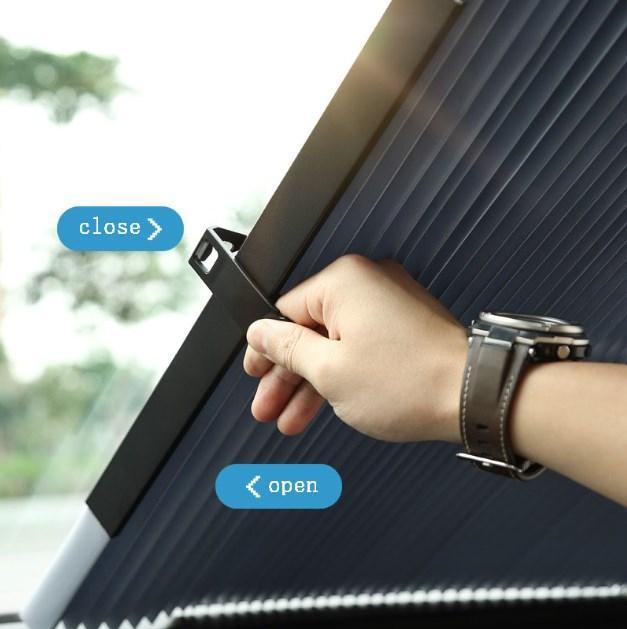 Автомобиль Выдвижной лобовое стекло Anti-UV окна автомобиля Тень автомобиля Передняя ВС Блок Авто заднего стекла Складная занавес 46см / 70см