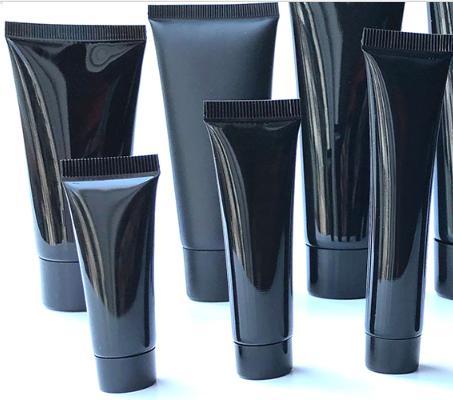 30pcs 100g Siyah Plastik Krem Squeeze Bottle 200g Kozmetik Yüz Temizleyici Yumuşak Tüp paketi Şişeler Ücretsiz Kargo