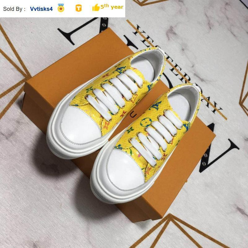 2113210 denim printed casual women shoes yellow SNEAKERS Dress Shoes Skate Dance Ballerina Flats Loafers Espadrilles Wedges