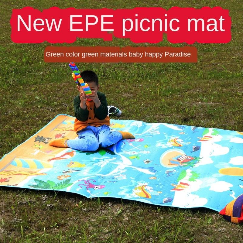 Campeggio esterno picnic pieghevole a prova di umidità climbing tenda impermeabile pasto Pasto spiaggia tenda stuoia per bambini mat 79kUa