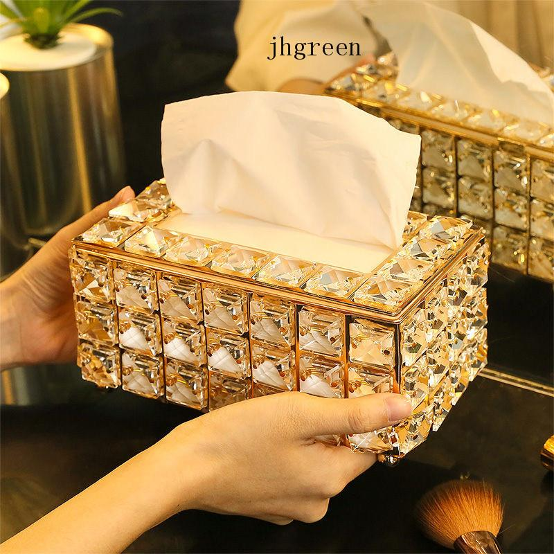 Acrylic Crystal European Style Tissue Box Cosmetic Tissue Box Handkerchief Cage 190x110 X100mm For House Office New