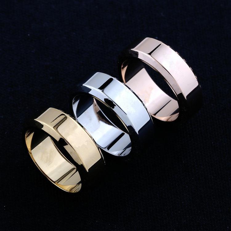 Высококачественное L Классический стиль моды кольцо дикая тенденция S925 посеребренная для пары Размер кольца Полный драгоценный камень (без коробки)