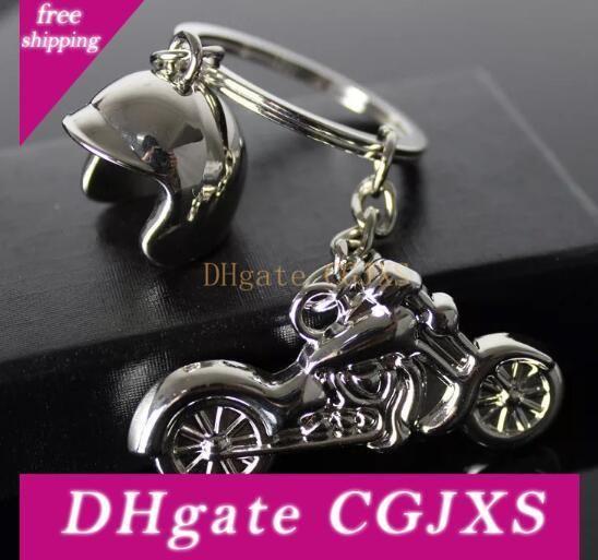 Livraison gratuite par Dhl 100pcs / Lot Nouveau Hot Casque de moto Porte-clés Métal Mini moto Porte-clefs pour la promotion de cadeaux