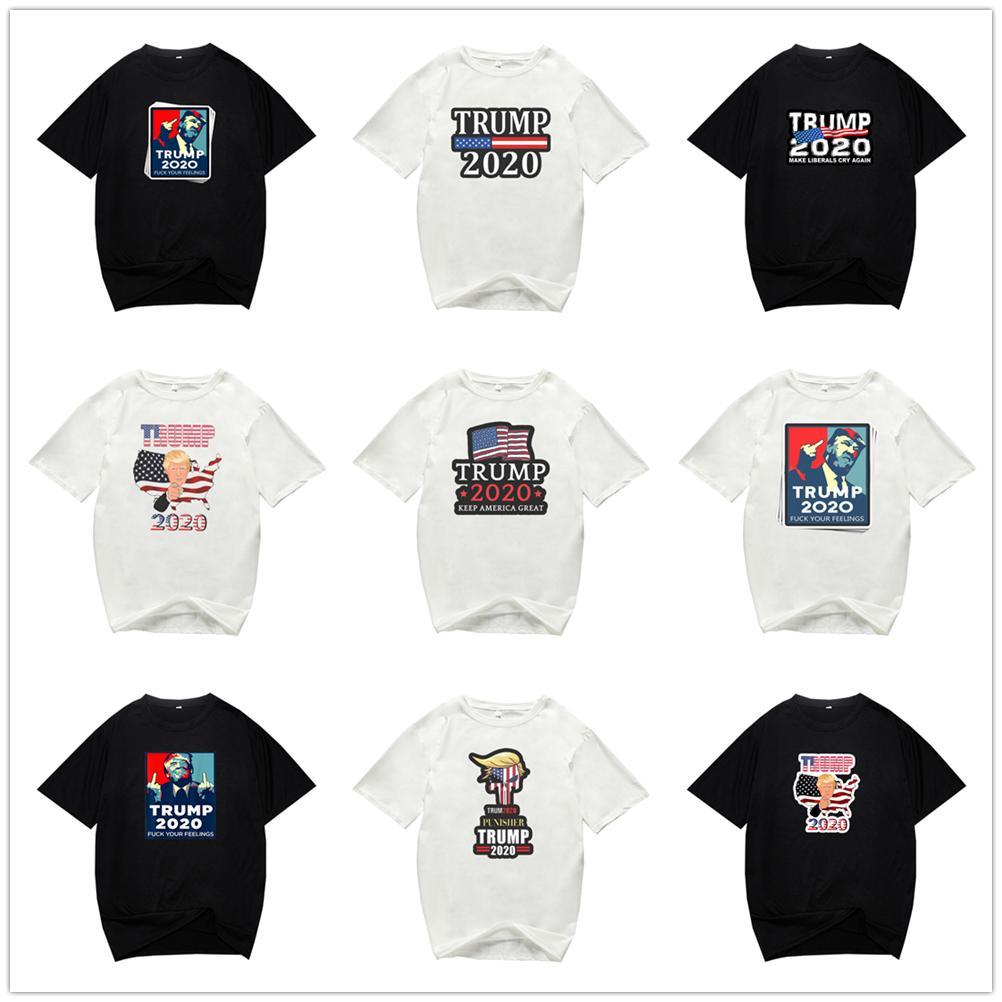 BIDEN TRUMP 2020 US-General Election Periphere T-Shirt mit Rundhalsausschnitt-Buchstabe-Druck Sommer-Größe Männer und Damen Kurzarm