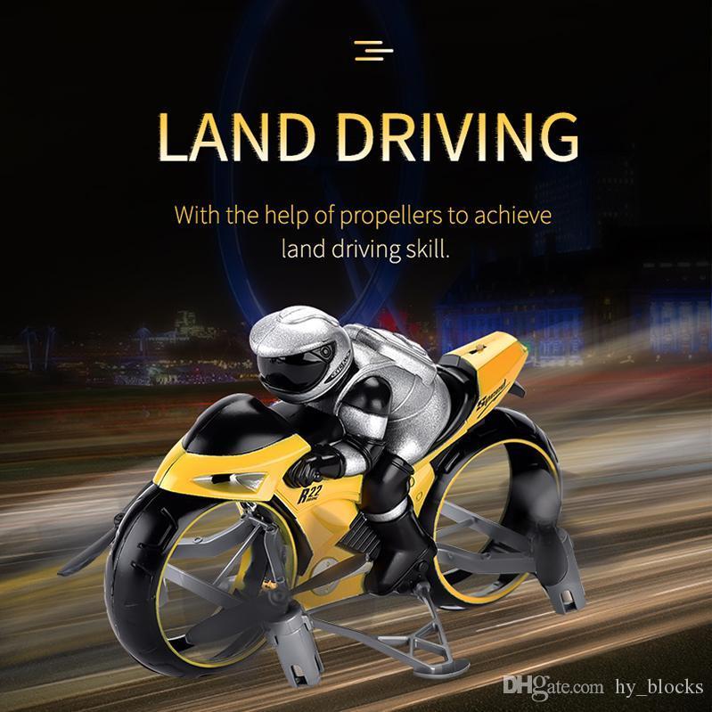 2.4G mit Land-Air Motorrad 2in1 Licht Spielzeug Geschwindigkeit Remote Drift Auto RC Motorrad Control Motorrad Modell Hohe Mini Kinder fliegen 08 OPIWE