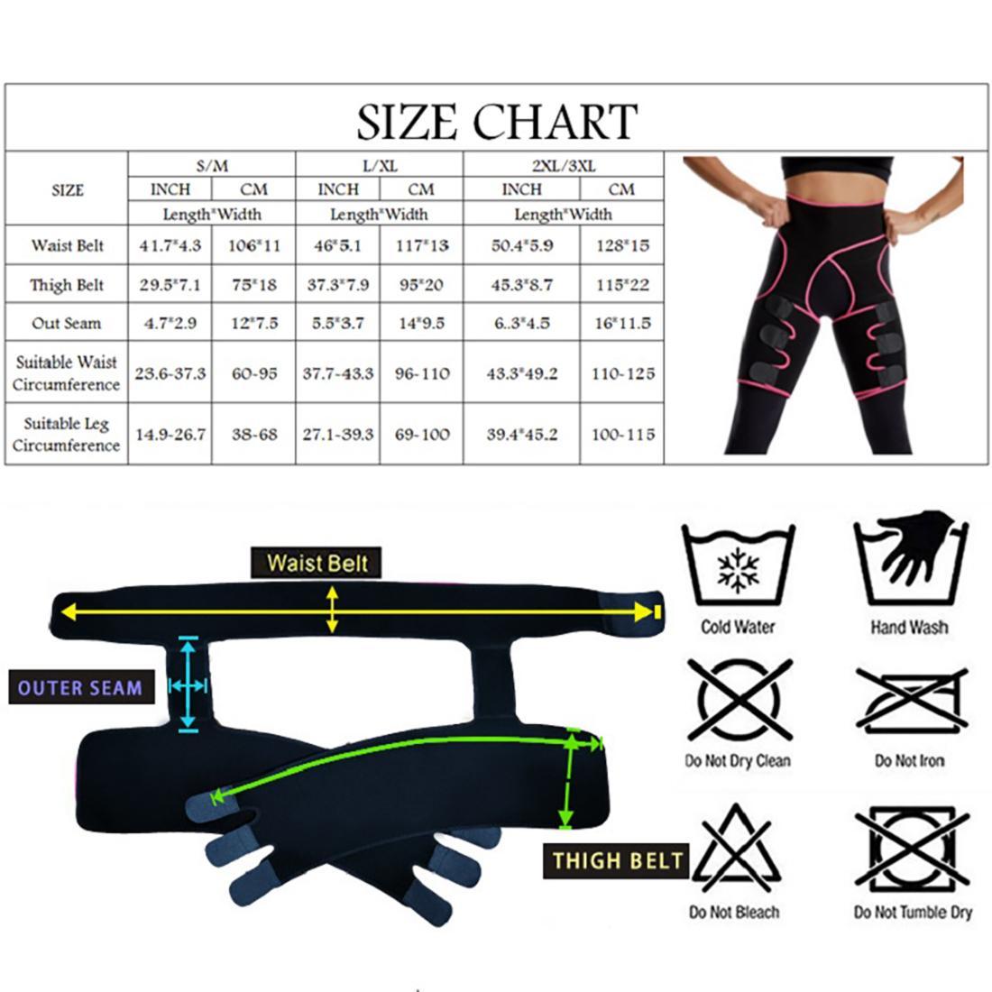 Frauen mit hoher Taille Oberschenkel Trimmer Neopren Sweat Formwäsche Bein abnimmt Körper Shapers justierbare Taille Trainer Slimmerbelt