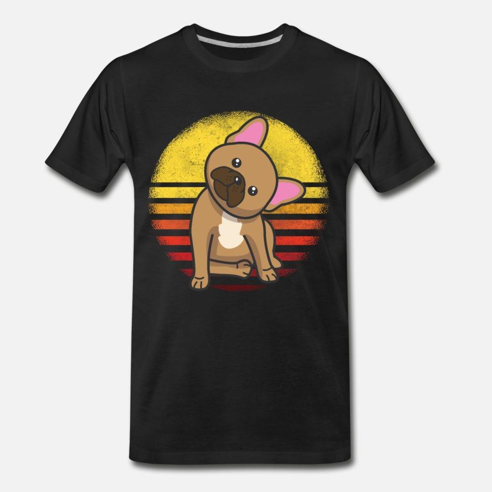 Frenchie Bulldog Francés regalos hombres de la camiseta del diseñador 100% de algodón de cuello redondo homme Fit divertido informal camisa de la familia de Primavera