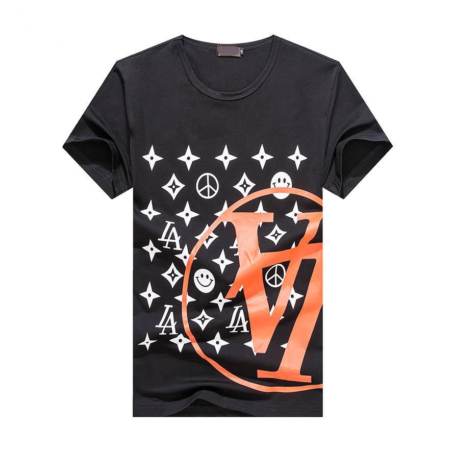Designer de luxo Camiseta Verão Camiseta Mens Fashion Designer T Shirt Hip Hop Homens Mulheres Preto manga curta Tees Tamanho M-3XL