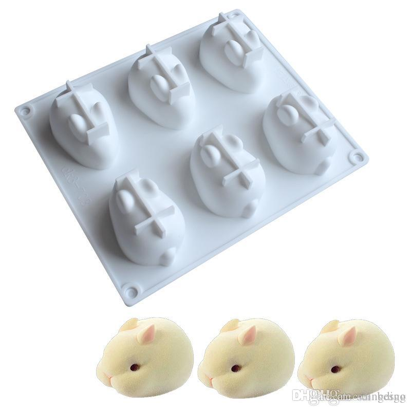 Rabbit Silicone Cake Mold Chocolate Mould Truffle Bakeware Mousse Mould Dessert Maker Baking Tool Pastry Decoration Accessory VT0306