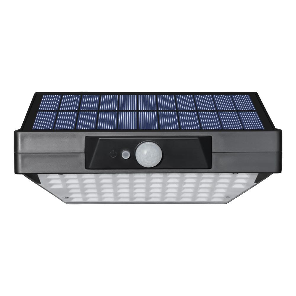 Cerca LED Luz Solar Outdoor Wireless 78Leds Solar Folding Motion Sensor Wall Light 3 lados Iluminação de Segurança Luz para Jardim