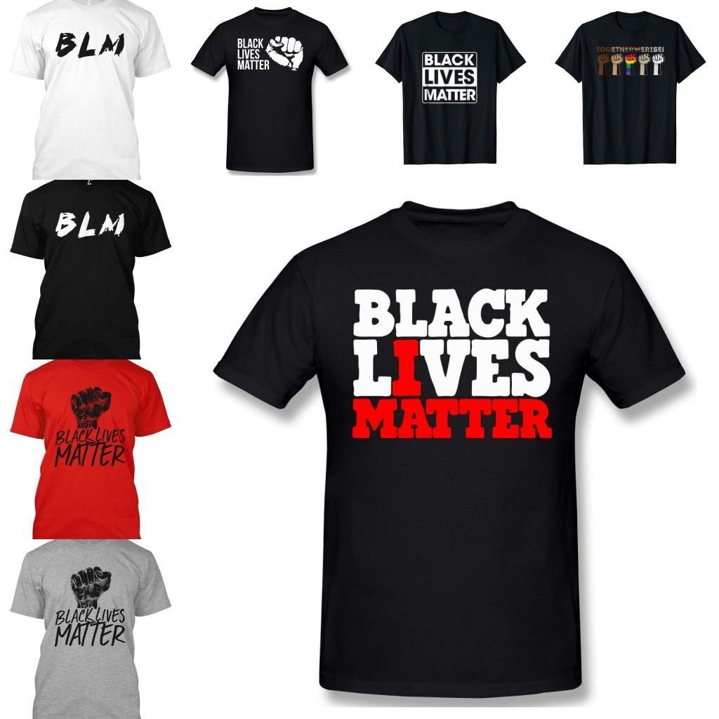 Stock US, vie noire Matière lettre T-shirt pour les hommes / Womens 2020 Égalité Luttes à manches courtes d'été Mode Motif Hommes Top T-shirts