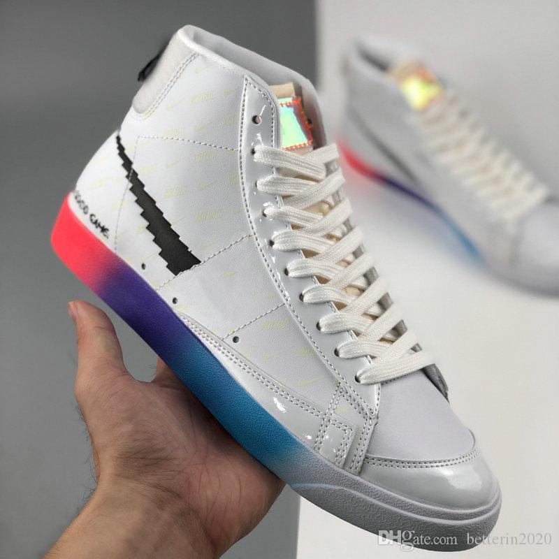 Yeni Blazer Mid 77 Vintage Have A Good Game Erkekler Kadınlar Koşu Ayakkabı 3M Beyaz Gökkuşağı Günlük Kaykay Spor Eğitmenler Spor ayakkabılar Boyutu 36-44