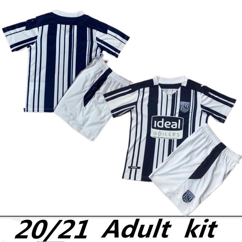 20 21 Вест Бромвич AWAY домой трикотажные изделия футбола 2020 Оливер Берк Pereira Ливермор Phillips Каллум Робинсон футбольные рубашки комплекты