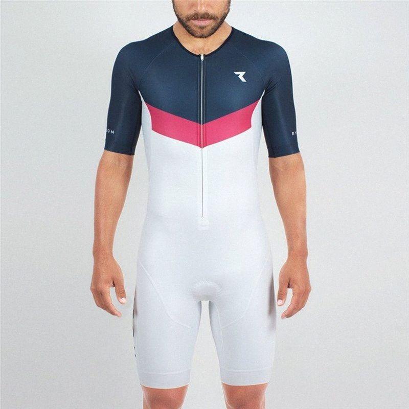 RYZON triathlon vélo maillot manches courtes Maillot Pro Fit Race Skinsuit mis Ropa Ciclismo hombre Route oqNs Suit la peau #