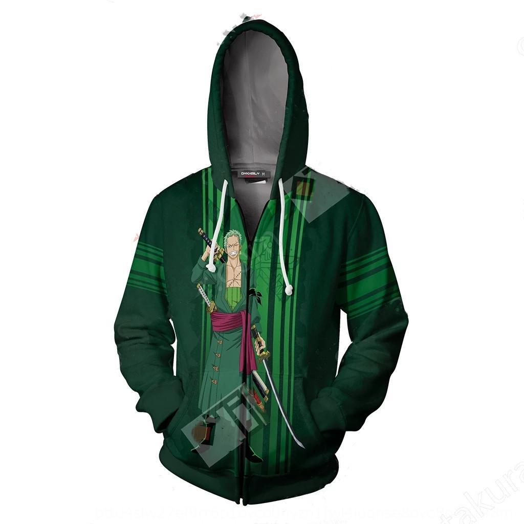 eRAca periférica 2019 Nueva una sola pieza en 3D con capucha chaqueta de punto con capucha kDXW9 cosplay de anime impreso