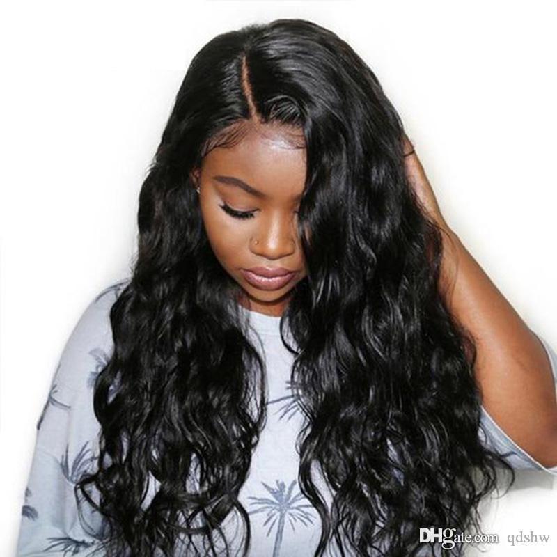 Undetectable unsichtbare Spitze-Front-Perücken HD für schwarze Frauen Echt Virgin brasilianischen Long Body Wave-Transparent Hd volle Spitze-Menschenhaar-Perücke Freie