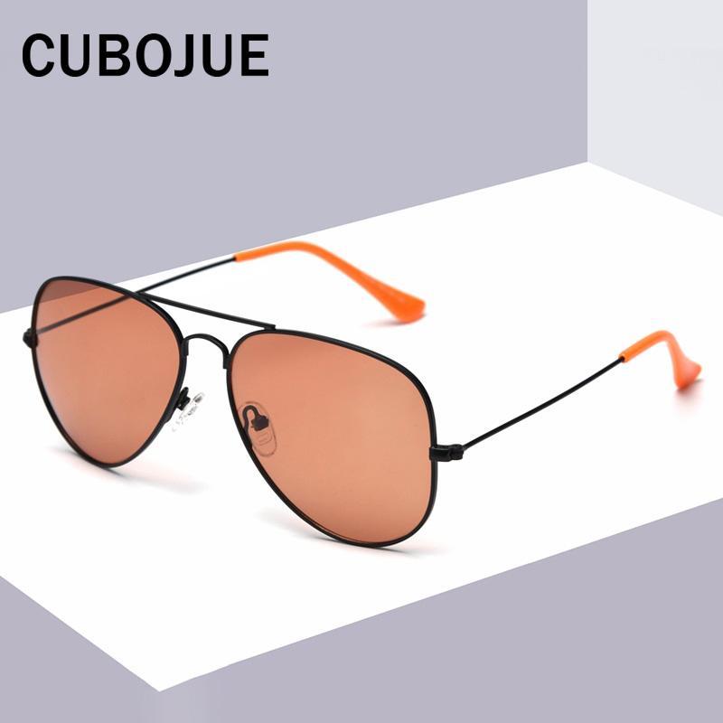Klassische Luftfahrt für Frauen Sonnenbrillen Männer Sonnenbrille Polarisierte Frau Weibliche UV400 Design Damen Cubojue Vintage Vbbew