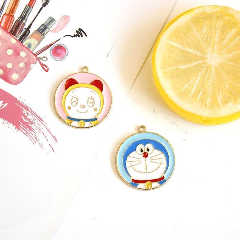 Jzhgh Nova dos desenhos animados liga DIY DIY acessórios robô pingente de gato Doraemon material de acessórios pingente bonito gato Ding-Dang