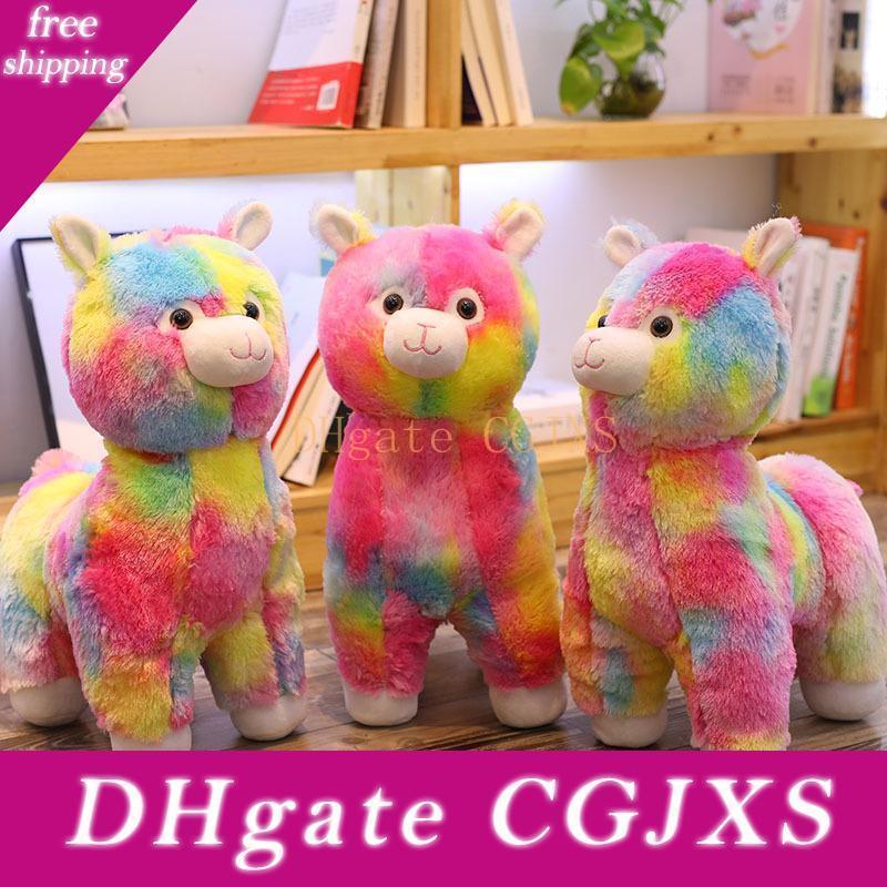 Tik Tok Hot Regenbogen Alpaka Puppe Kamel-Plüsch-Puppe Kinder gefüllt Spielzeug gefüllte Puppe Geschenke für Geburtstagsfeier