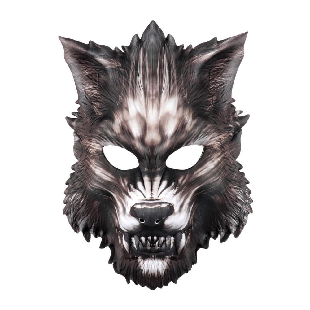 Cosplay Полный Реквизит EVA 3D Party Decor Horror Wolf Face Mask Halloween Night