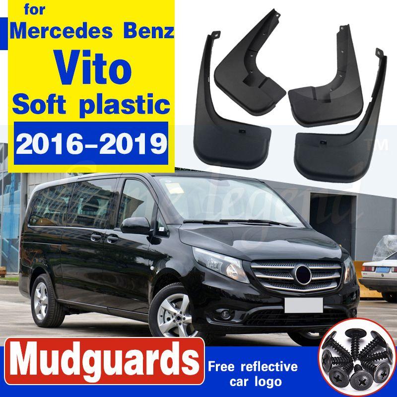 Bavette arrière avant voiture pour Mercedes Benz Vito 2016 ~ 2019 W447 Fender boue Garde Splash Flap Garde-boue ACCESSOIRES plastique souple
