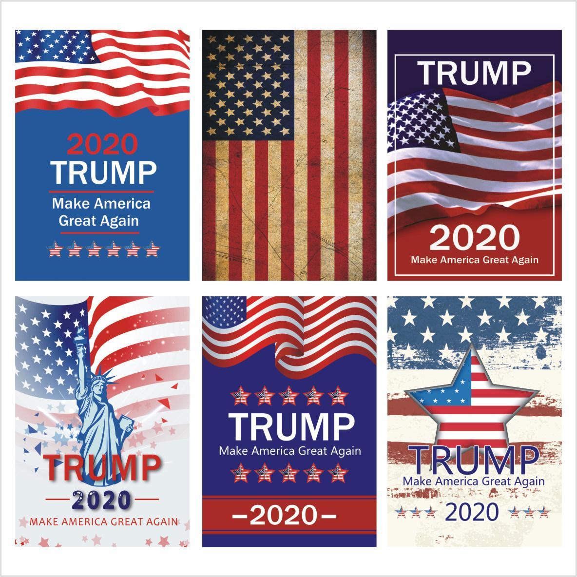 Trump 2020 Bandera 13 estilos Banderas Donald Mantenga Flags America Presidente Gran Nuevamente Poliéster Decoración Bandera Para EE.UU. Trump fuentes del partido