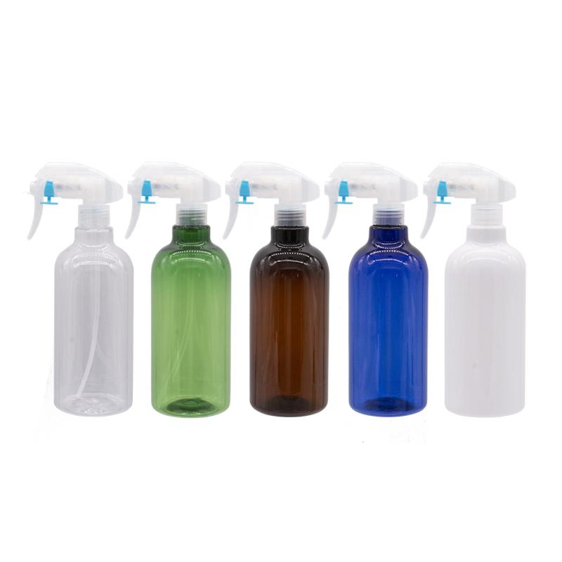 Empty Plastic Bottles With Trigger Pump 500ml Large Size PET Cosmetic Bottles For Watering House Cleaning Household Bathroom