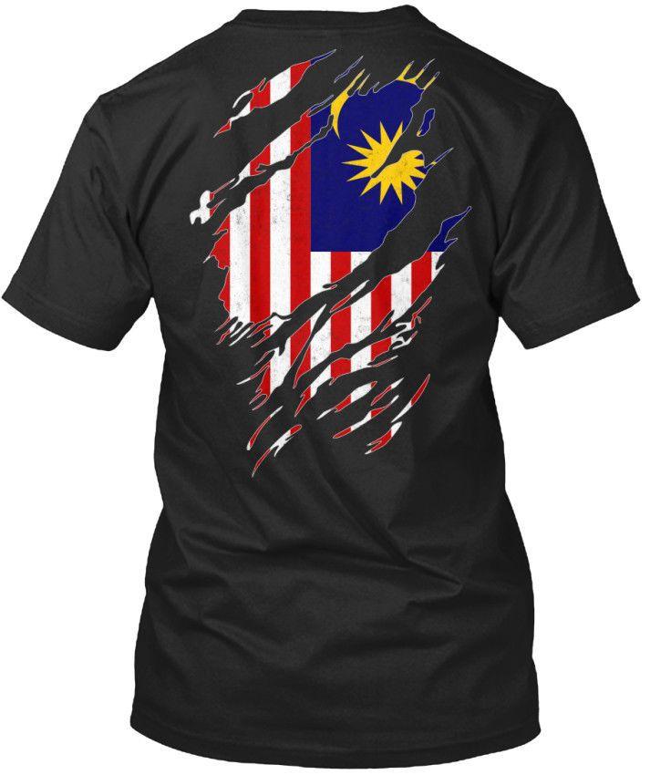 338 Padrão Unisex T-shirt 2019 Moda em torno do pescoço roupa Eu amo Malaysia verão camisetas